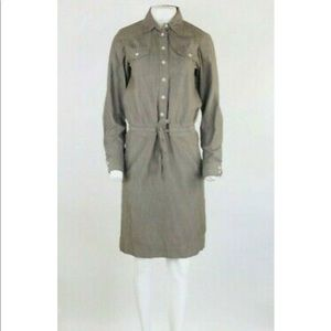 Boden Drawstring Shirt Dress TALL SIZE